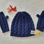 Cappello Blue Cup e guanti Starless Knitting Laura