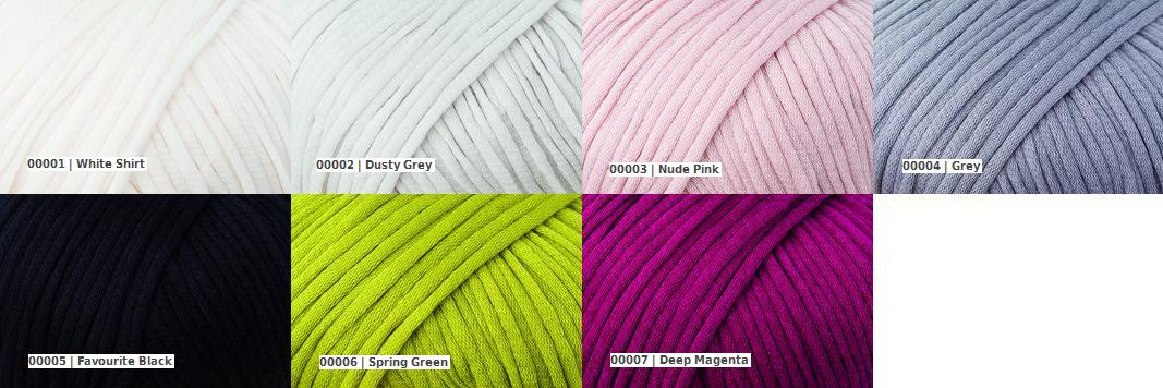 Rowan Mako Cotton colour palette codes